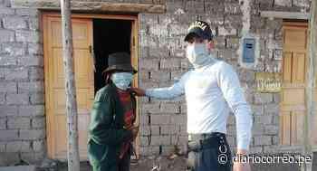 Huancavelica: Policías compran y regalan mascarillas a los más pobres - Diario Correo