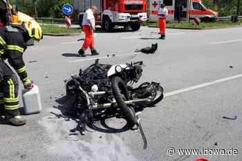 B20 bei Landau stundenlang gesperrt: Motorradfahrer bei Unfall schwer verletzt - idowa