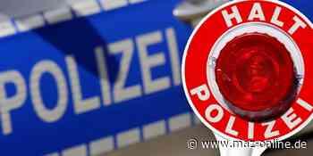 Polizeibericht Potsdam-Mittelmark - Mehr als 3 Promille: Betrunkener von Polizei in Beelitz gestoppt - Märkische Allgemeine