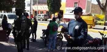 Realizan perifoneo y rondines para promover medidas sanitarias en Charcas - Código San Luis