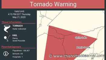 Parts of eastern North Carolina under tornado warning, forecasters say - Charlotte Observer