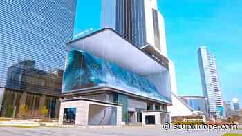 WAVE Public Art Installation by South Korea's d'strict - stupidDOPE.com