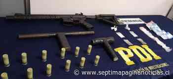 PDI de Linares incautó arma de fuego y recuperó camión robado - Septima Pagina