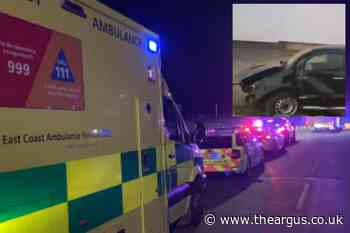Truck smashes through wall in early hours Bognor crash