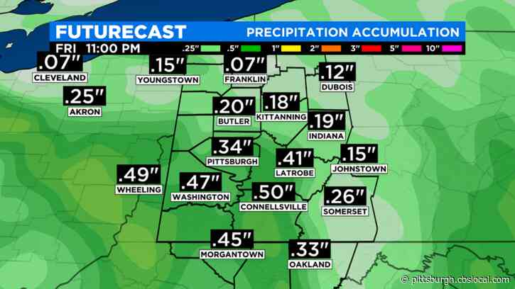 Pittsburgh Weather: Rain Showers Start Memorial Day Weekend