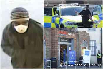 Shoreham Tesco armed robbery: CCTV footage released