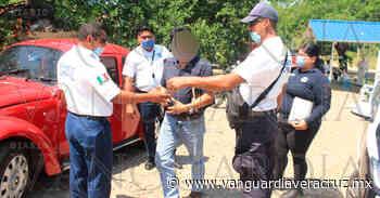 (Video) Cae en filtro sanitizante funcionario federal de Tantoyuca - Vanguardia de Veracruz