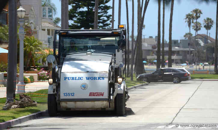 Seat belts are a must for street sweepers and the trailing ticket givers