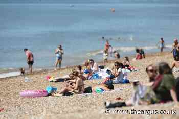 Brighton beach access is restricted after flock of visitors