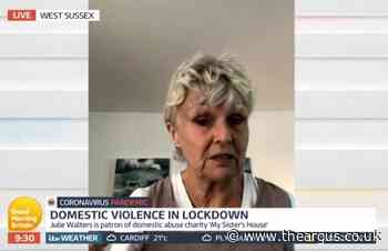 Julie Walters shares domestic violence helpline advice