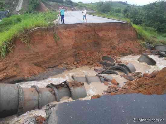 Chuva forte abre cratera em rodovia que liga Itaporanga a Itabaiana - Infonet