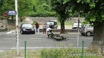 Vittorio Veneto, mancata precedenza in via Marconi: motoclista si schianta contro un'auto in uscita da un parcheggio - Qdpnews.it - notizie online dell'Alta Marca Trevigiana