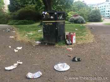 Coronavirus Brighton: Rubbish left at Preston Park