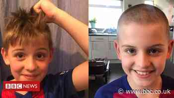 Coronavirus: Boy's charity head shave for Oldham food bank