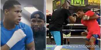 VIDEO: Floyd Mayweather trains Devin Haney, young US fighter - Insider - INSIDER