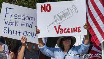 New Yahoo News/YouGov poll shows coronavirus conspiracy theories spreading on the right may hamper vaccine efforts