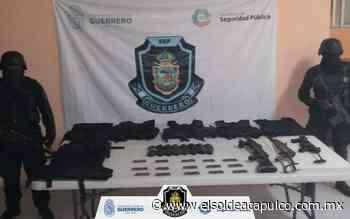 Aseguran armas, cargadores y cartuchos útiles en Iguala - El Sol de Acapulco