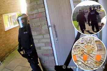 Saltdean: Haul of drugs and cash seized during raid