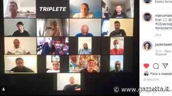 Inter, la squadra del Triplete su Zoom il 22 maggio