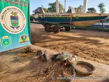 Apetrechos de pesca ilegal são apreendidos no rio Miranda - Bonito Notícias
