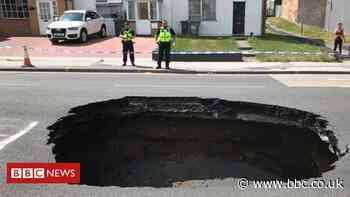 'Huge' sinkhole in Walsall to take a month to repair