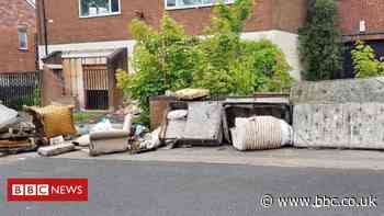 Mattresses and junk dumped outside Walsall homes