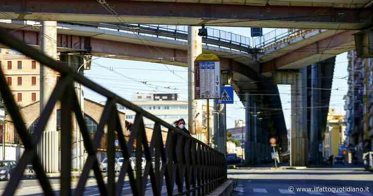 Roma, crolla pezzo di copriferro dal viadotto della Tangenziale Est su via Prenestina: tratto chiuso dopo le verifiche dei vigili del fuoco