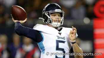 "Logan Woodside welcomes ""big opportunity"" to win Titans backup QB job"