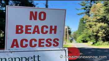 Beach access in Lantzville restricted as crews start large sewer project - Nanaimo News NOW