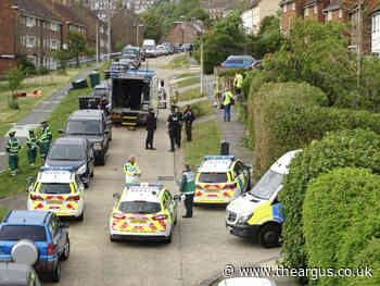 Horton Road Brighton incident as bomb disposal team is seen