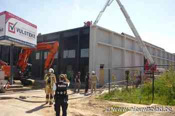 Brand bij plaatsing roofing in Pont West (Ronse) - Het Nieuwsblad
