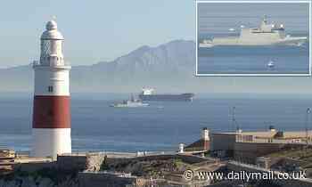 Royal Navy escorts Spanish patrol boat away from Gibraltar