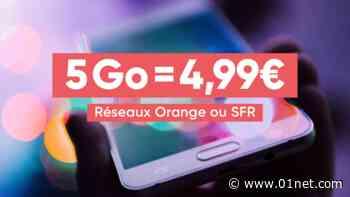 Bon Plan Forfait Mobile : 5 Go sur Orange ou SFR pour moins de 5 euros - 01net.com