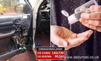Experts warn that leaving hand sanitizer in your hot car can cause it to EXPLODE