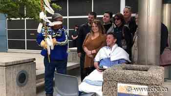 Injured Snowbirds pilot honoured with drum circle outside Kamloops hospital