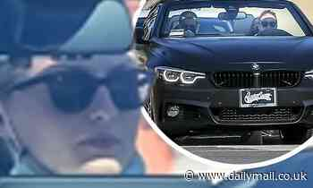 Joe Jonas and pregnant wife Sophie Turner go for drive in BMW - Daily Mail