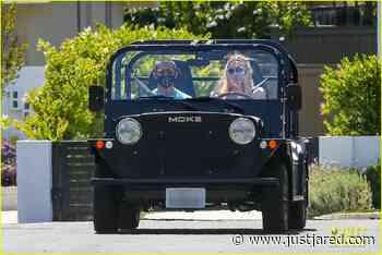Sophie Turner Wears Bump-Hugging Dress While on a Drive with Joe Jonas | sophie turner wears form fitting dress out on drive with joe jonas 04 - Photo - Just Jared