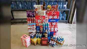 La Loche RCMP seize alcohol, including 534 cans of beer, at roadside check stop, charge 3 people for trying to resell it - CTV News Saskatoon