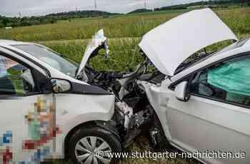 Unfall zwischen Ehningen und Dagersheim - Frontalzusammenstoß fordert zwei Verletzte - Stuttgarter Nachrichten