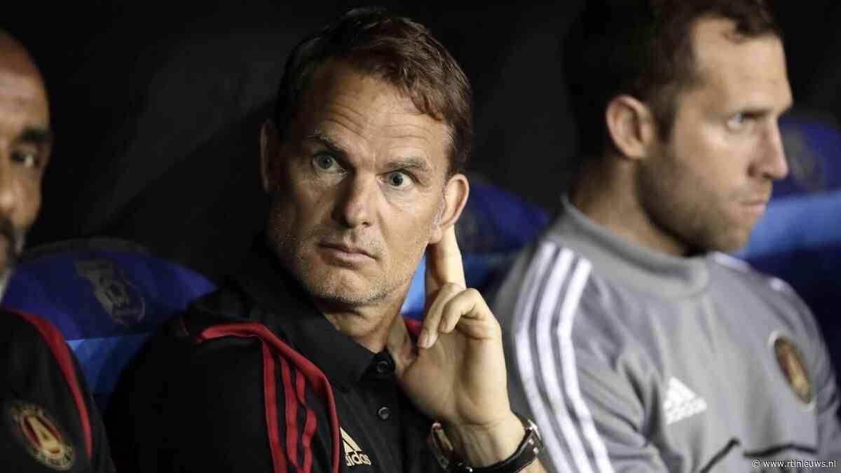 Frank de Boer moet wachten op groepstrainingen in MLS - RTL Nieuws