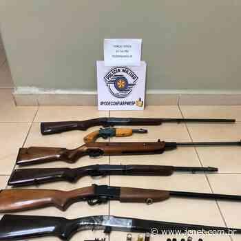 Após disparos, PM apreende armas e munições em Pederneiras - JCNET - Jornal da Cidade de Bauru