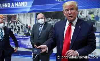 Un masque ? Pas devant les caméras, répond Donald Trump - maville.com