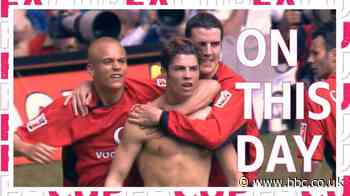 Cristiano Ronaldo & Ruud van Nistelrooy win FA Cup for Manchester United against Millwall