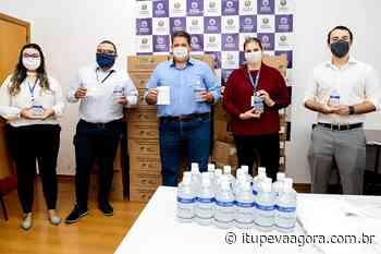 Itupeva recebe doação de frascos de álcool em gel e máscaras de proteção da empresa Marfrig - Itupeva Agora
