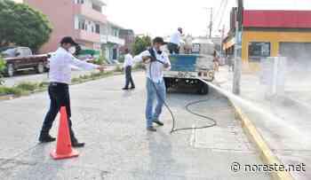Inició sanitización de zonas de alto riesgo de Covid-19 en Coatzintla - NORESTE