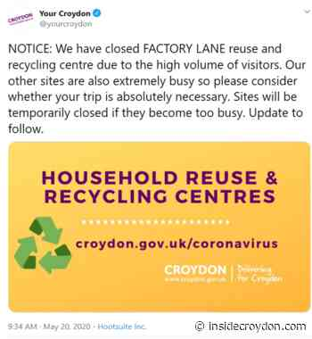 Council closes Factory Lane dump due to number of visitors - Inside Croydon