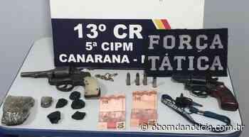 PM evita roubo e prende três em Canarana - O Bom da Notícia