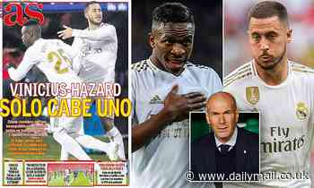 Zinedine Zidane believes Real Madrid stars Eden Hazard and Vinicius Junior are INCOMPATIBLE