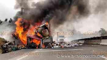 Salvan a hombre de morir calcinado, tras accidentarse en libramiento Xalapa-Perote - alcalorpolitico