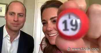 Prince William and Kate Middleton were guest bingo callers in call to nursing home